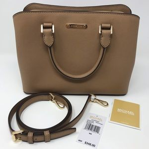 Michael Kors Savannah Satchel, Dark Khaki,